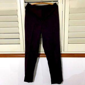 Port wine colored dress pants.Split sides at ankle